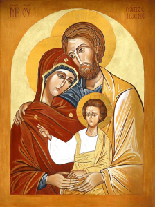 Ikona Świętej Rodziny: Jezusa, Maryi iJózefa